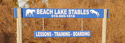 Look for our the Beach Lake Stables sign.